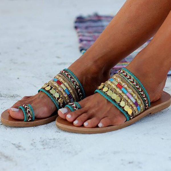 Celebrity Style Bohemian Slippers