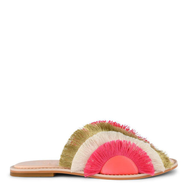 Women's Color Tassel Flat   Slippers