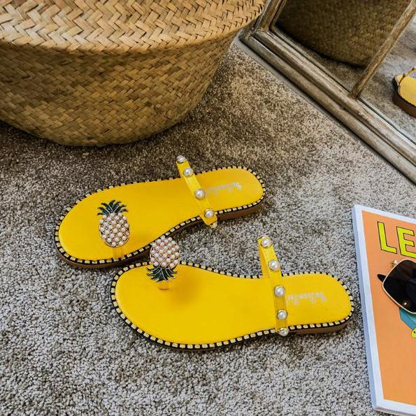 Fashion Pineapple Flip-Flops