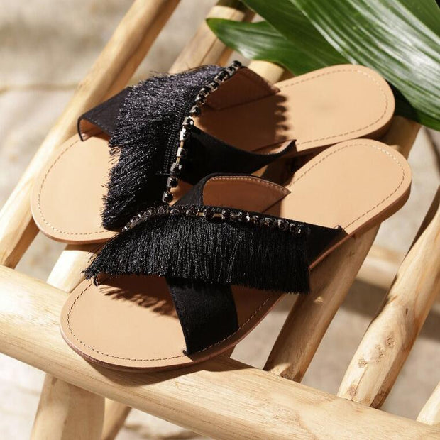 Fashion Fringed Slippers