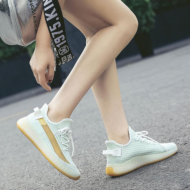 Women Mesh Breathable Round Head Casual Shoes