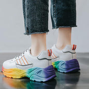 Color Bottom Women Platform Casual Sneakers
