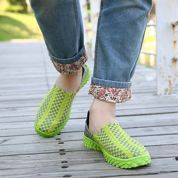 Women's Casual Breathable Hand-Woven Lazy Sneakers