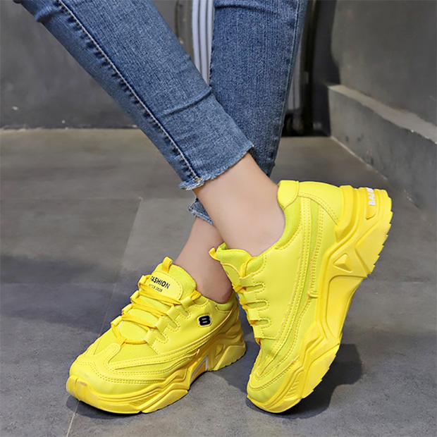 Women's Fashion Breathable Mesh Platform Sneakers