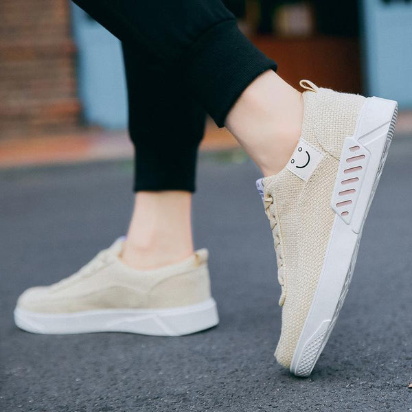 Casual Basic Breathable Pure Color Flat Canvas Shoes