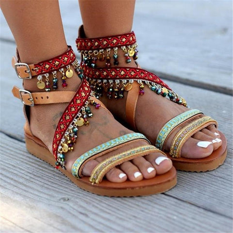 Fashion Vintage Bohemian Ethnic Flat Sandals