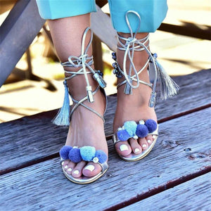 Fashion Wild Cross Strap High Heel Sandals