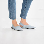 Pointed Flat Shoes Slim And Comfortable Flat Bottom Breathable Sandals