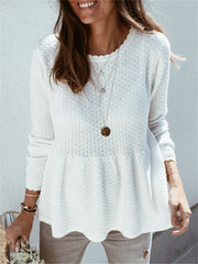 Casual Loose Solid Color Sweater RY01