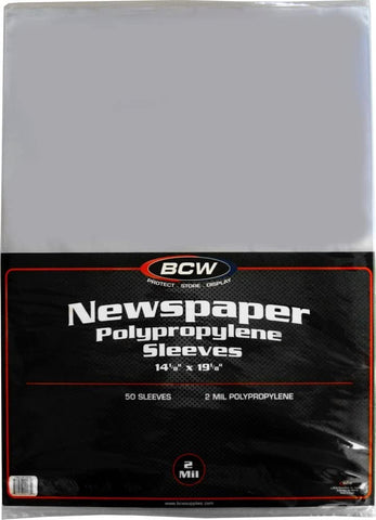 Newspaper Sleeves - 14 x 19