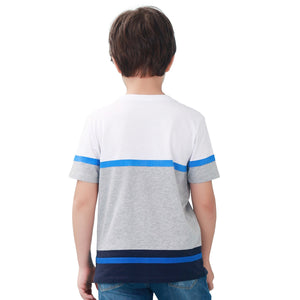 Kids Boy Short Sleeve T shirt Tops White Gray