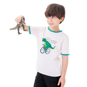 Kids Boy Dinosaur Short Sleeve T Shirt