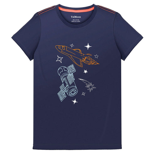Kids Boy Rocket Short Sleeve T Shirt