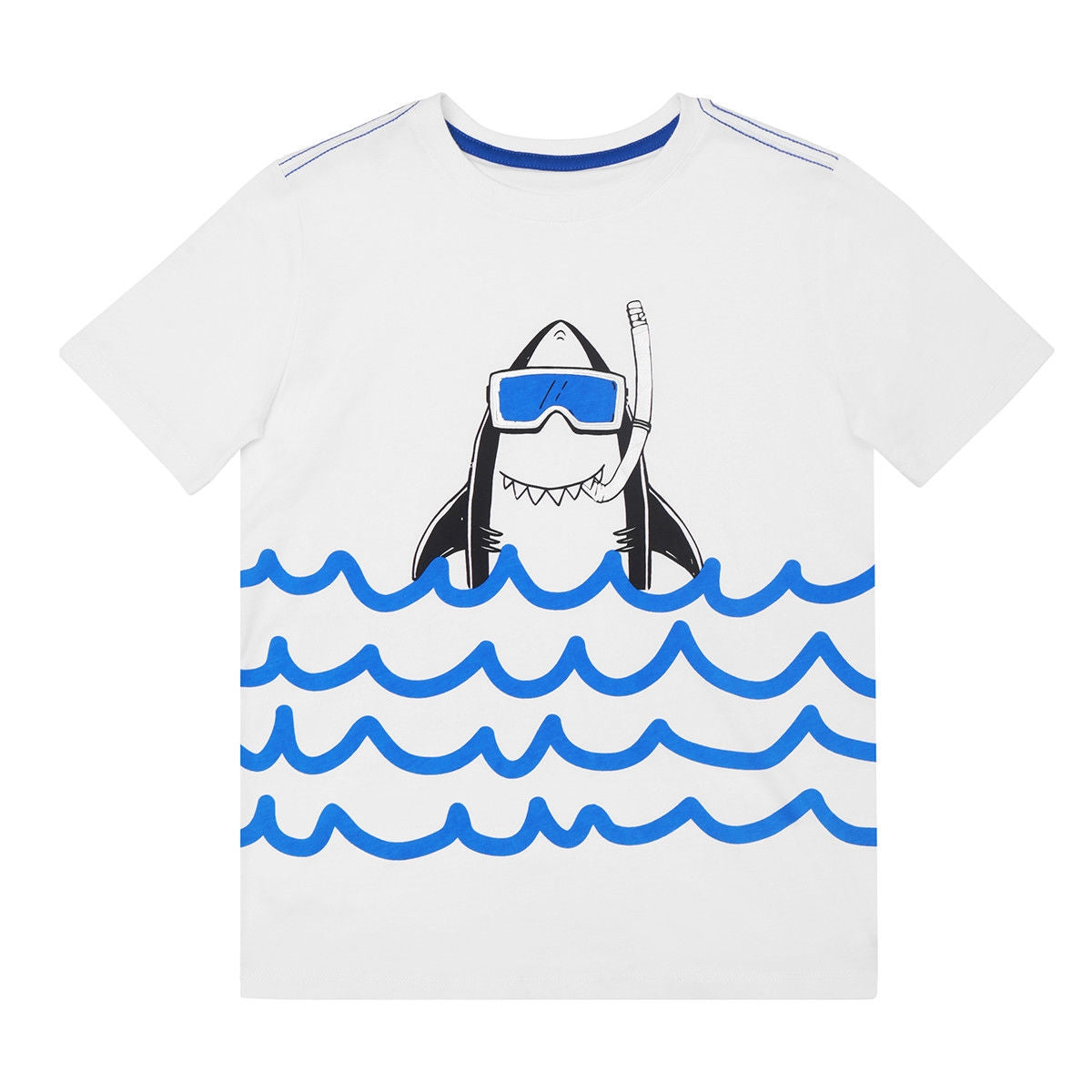 Kids Boy Shark Short Sleeve T Shirt