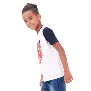 Kids Boy Tiger Short Sleeve T Shirt