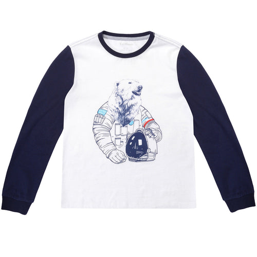 Boys Bear Pattern Long Sleeve Tops Tee Clothes