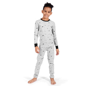 TaiMoon Boys Dinosaur Long Sleeve Cotton Pajama Set 6 To14 Years Old
