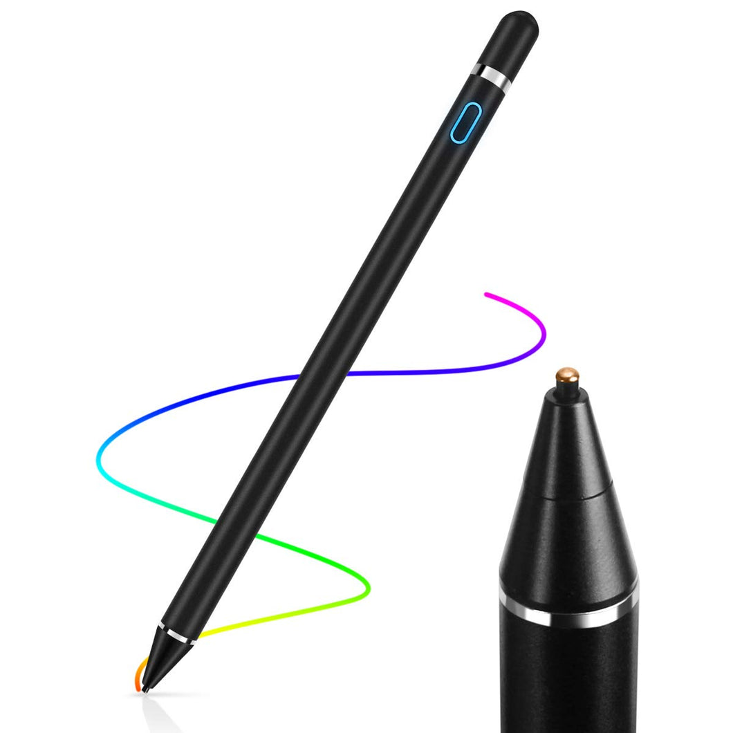 AICase Stylus Pens for Touch Screens, 1.45mm High Precision and Sensitivity Point IPad Pencil Fine Point Active Smart Digital Pen for Tablet Work at iOS and Android Touch Screen