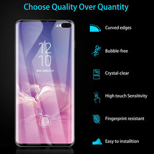 AICase Screen Protector for Galaxy S10 Plus,Black 0.25mm [Soft Curved Film ][HD Clear] [Case Friendly][FullCoverage] [Bubble-Free][Anti Fingerprint] Screen Cover for Samsung Galaxy S10+