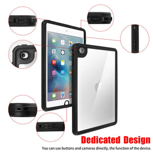 iPad Mini 4 and Mini 5 IP68 Waterproof Case with Lanyard Built-in Screen Protector