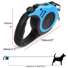 Load image into Gallery viewer, AICase Bone Printing Retractable Dog Leash Pet Lead Tape Automatic Extendable Traction Rope 5m Long Nylon One Button Break & Lock, Tangle Free, Perfect Control for Small Medium Dogs Cats