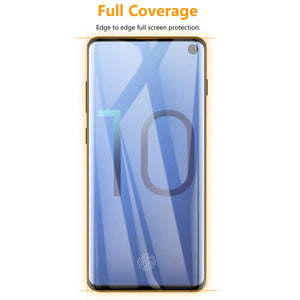 AICase Screen Protector for Galaxy S10 E, 0.26mm 4D Full Coverage Case High Sensitivity Anti Fingerprin Tempered Glass Screen Cover for Samsung Galaxy S10e