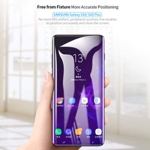 AICase Screen Protector for Galaxy S10 Plus, AICase [Soft Hydrogel Aqua Flex ][HD Ultra Clear] [Case Friendly][Full Screen Coverage] Anti Fingerprint Screen Cover for Samsung Galaxy S10+