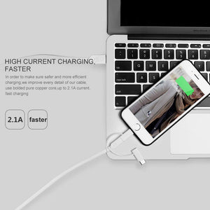 AICase USB Multi Charging Cable, 2.1A Current 3.3ft TPE Material,3 in 1 Multiple USB Cable Fast Charging Cord Support Data Transfer Compatible Mobile Phones Tablets and More