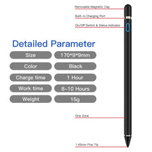 Load image into Gallery viewer, AICase Stylus Pens for Touch Screens, 1.45mm High Precision and Sensitivity Point IPad Pencil Fine Point Active Smart Digital Pen for Tablet Work at iOS and Android Touch Screen