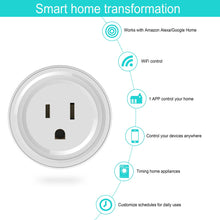Load image into Gallery viewer, Wifi Smart Plug Wlan Outlets Wireless Smart Mini Outlet Compatible With Amazon Alexa Echo,Google Home No Hub Required, White