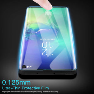 AICase Screen Protector for Galaxy S10,0.125mm [Soft Curved Film ][HD Clear] [Case Friendly][FullCoverage] [Bubble-Free][Anti Fingerprint] Screen Cover for Samsung Galaxy S10
