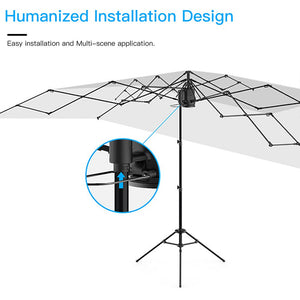 AICase Car Tent Umbrella, Automatic Anti-UV Car Tent Movable Carport Folded Portable Automobile Protection Car Umbrella Sunproof Sun Shade Canopy Cover Universal(Automatic and Manual 2 in 1)