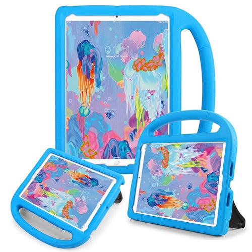 AICase Kids Portable Light Weight Shock Proof Impact Resistant Bumper Friendly Protective Cover with Kickstand for iPad 9.7