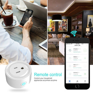 Wifi Smart Plug Wlan Outlets Wireless Smart Mini Outlet Compatible With Amazon Alexa Echo,Google Home No Hub Required, White