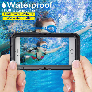 iPhone 6 Plus/6S Plus Waterproof Case, AICase IP68 Underwater Protective Cover [Heavy Duty Protection][Full Body Protective] Metal Shockproof Shell Built in Screen Protector for iPhone 6 Plus/ 6S Plus