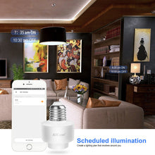 Load image into Gallery viewer, Smart Wifi E27 Light Socket, AICase Intelligent Wlan Home Remote control Light Lamp Bulb Holder Compatible with Alexa and Google Home-White