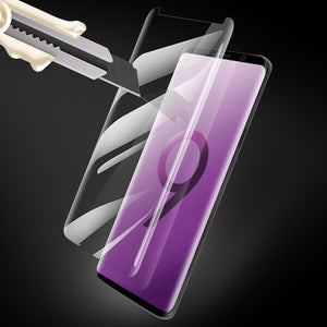 Galaxy S9 Screen Protector Tempered Glass,AICase [Case Friendly] 3D Curved [Full Coverage] HD 9H Hardness Bubble-Free Film for Samsung Galaxy S9 (Clear)