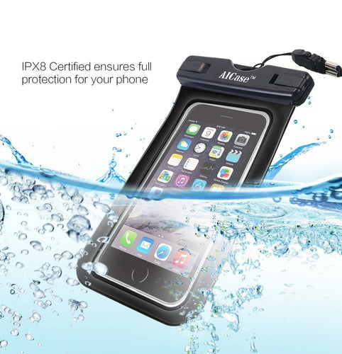 Waterproof Case Universal Dry Bag Pouch & Neck Strap for All Smartphones