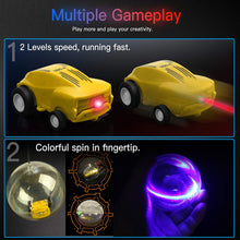 Load image into Gallery viewer, AICase Micro Racers Mini Rechargeable Stunt Cars -360 Degree Rotating Pocket Racer with LED Light Up Glow in The Dark Toy Car for Girls or Boys, Keychain Cars / Balls for Kids