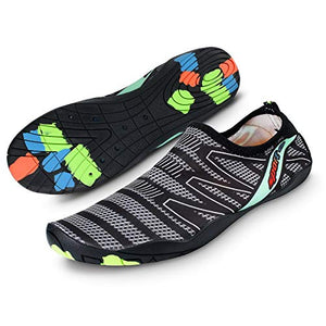 AICase Men's Water Beach Shoes Quick Dry Barefoot for Pool Walking Running