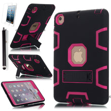 Load image into Gallery viewer, Heavy Duty Hybrid Shockproof Hard Case Cover Rubber Stand For iPad Mini 1/2/3