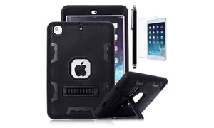 Heavy Duty Hybrid Shockproof Hard Case Cover Rubber Stand For iPad Mini 1/2/3