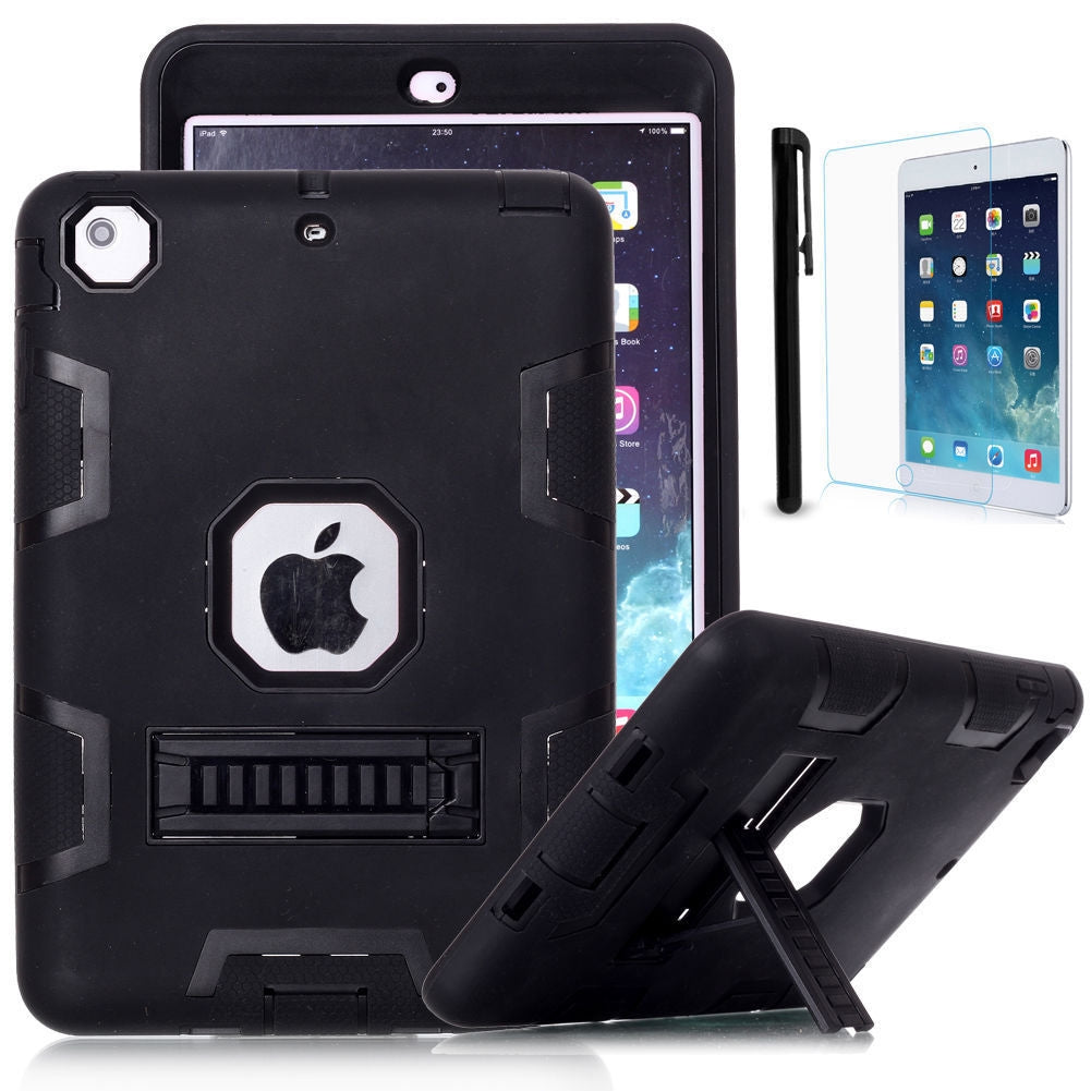 iPad Mini 4 and Mini 5 Shockproof Heavy Duty Rubber With Hard Stand Case Cover
