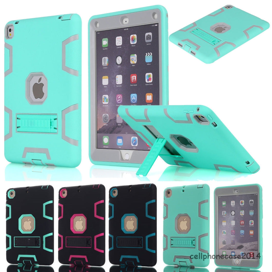 Heavy Duty Hybrid Shockproof Hard Case Rubber Stand Cover For Apple iPad Pro 9.7