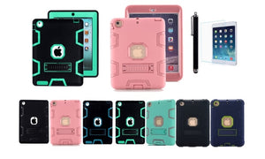 Shockproof Heavy Duty With Hard Stand Case Cover for iPad Air 1 and Air 2