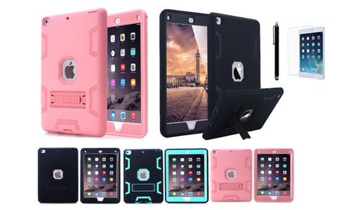 Shockproof Heavy Duty Case with Kickstand for New iPad 9.7 Inch 2017