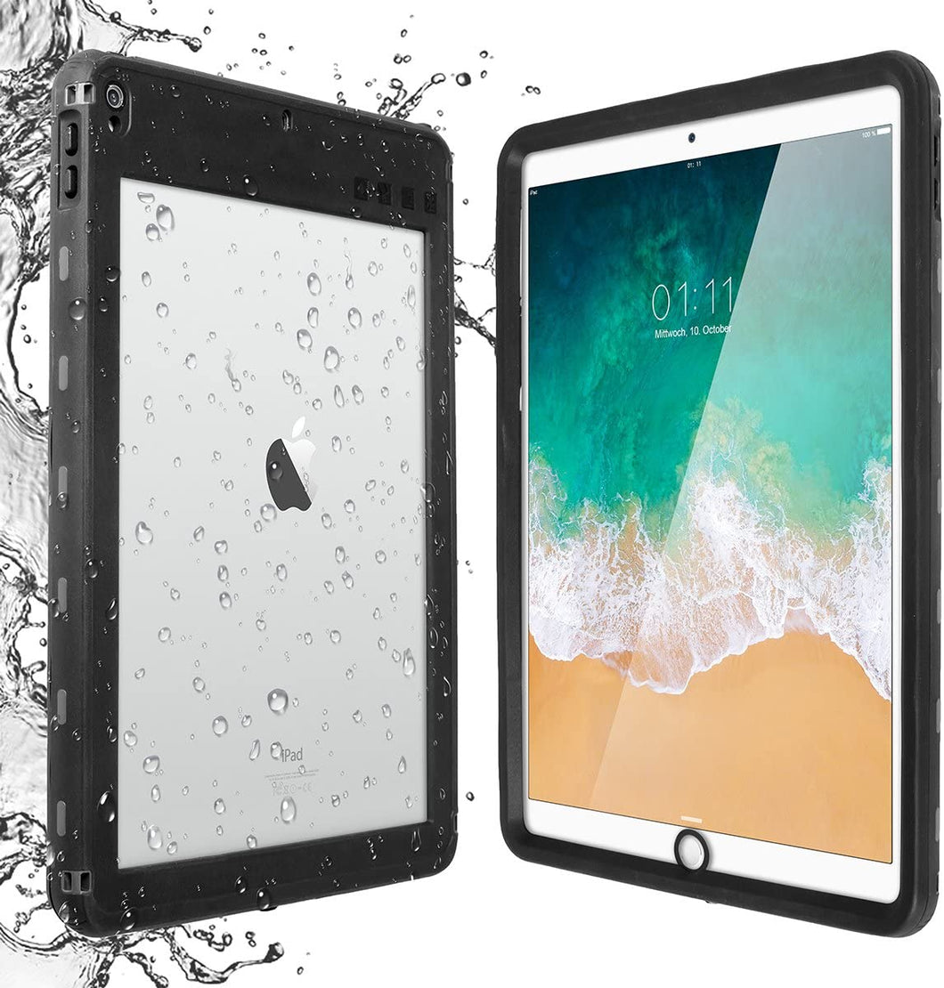 iPad Pro 10.5 Waterproof Case Water Resistant IP68 360 Degree All Round Protective Ultra Slim Thin Dust/Snow Proof with Lanyard