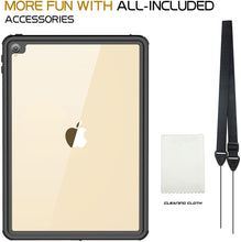 Load image into Gallery viewer, iPad Pro 10.5 Waterproof Case Water Resistant IP68 360 Degree All Round Protective Ultra Slim Thin Dust/Snow Proof with Lanyard