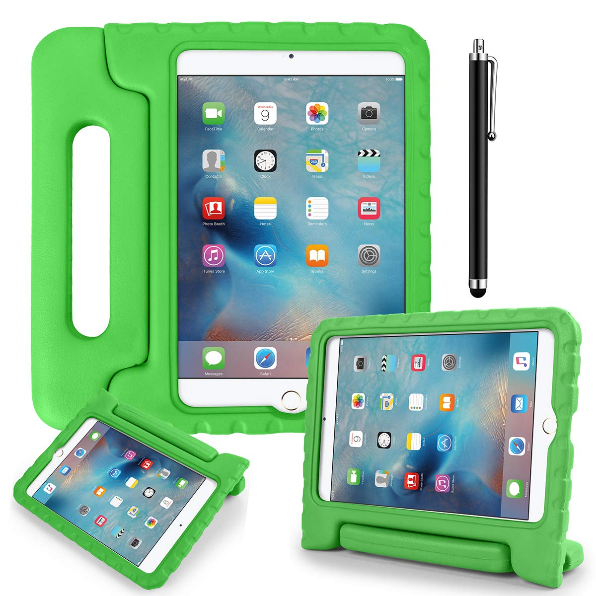 AICase Kids Shockproof Bumper Hard Case Cover Handle Stand with Screen Protector for iPad 10.2