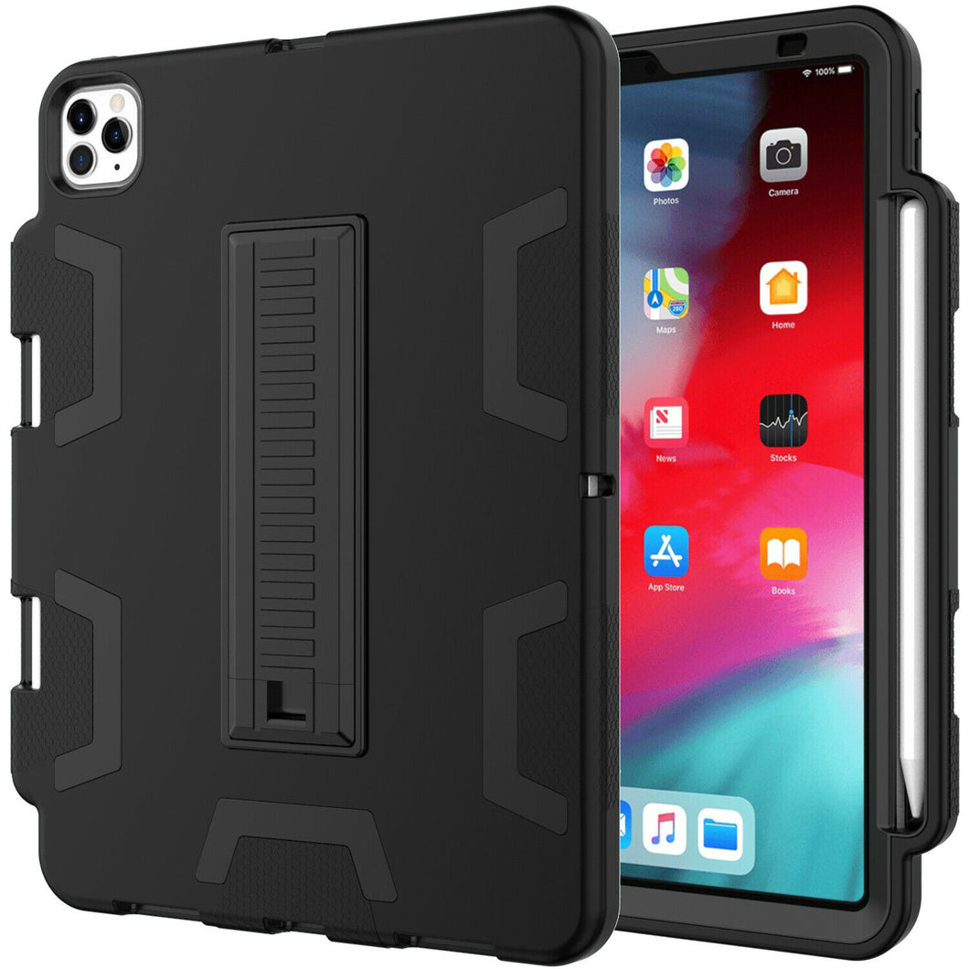 iPad Pro 11 Inch Hybrid Rubber Shockproof Heavy Duty Stand Cover